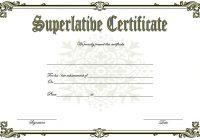 Superlative Certificate Template 3