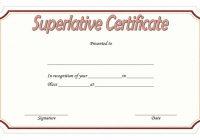 Superlative Certificate Template 5