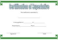Superlative Certificate Template 7