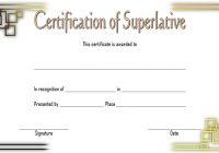 Superlative Certificate Template 9
