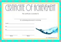 Swimming Achievement Certificate Template 2