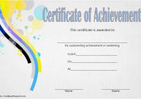 Swimming Achievement Certificate Template 4