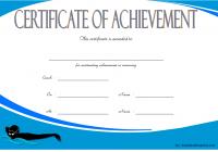 Swimming Achievement Certificate Template 5