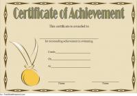 Swimming Achievement Certificate Template 6