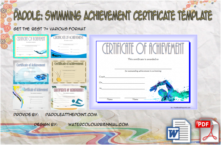 Permalink to Swimming Achievement Certificate Free Printable: 7+ Ideas