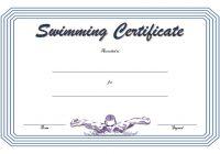 Swimming Certificate Template 1