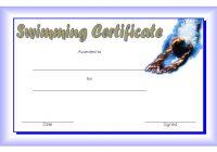 Swimming Certificate Template 2