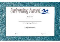 Swimming Certificate Template 3
