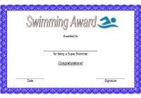 Swimming Certificate Template 4