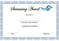 Swimming Certificate Template 5