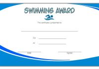 Swimming Certificate Template 6