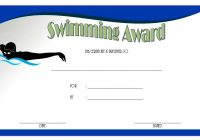 Swimming Certificate Template 7