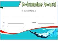 Swimming Certificate Template 8