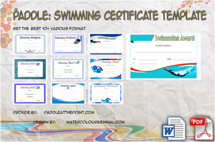 Permalink to Swimming Certificate Template – 10+ Best Choices Free