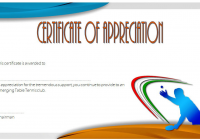 Table Tennis Appreciation Certificate Template 1