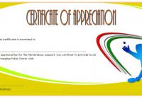 Table Tennis Appreciation Certificate Template 2