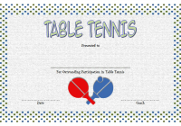 Table Tennis Certificate Template 1