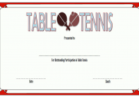 Table Tennis Certificate Template 2