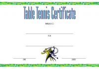 Table Tennis Certificate Template 3