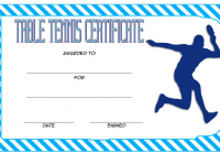 Table Tennis Certificate Template 4