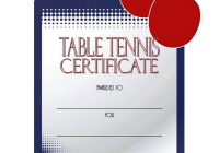 Table Tennis Certificate Template 5