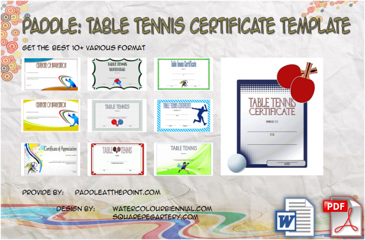 Permalink to Table Tennis Certificate Template FREE – 10+ Cool Designs