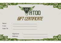 Tattoo Gift Certificate 4