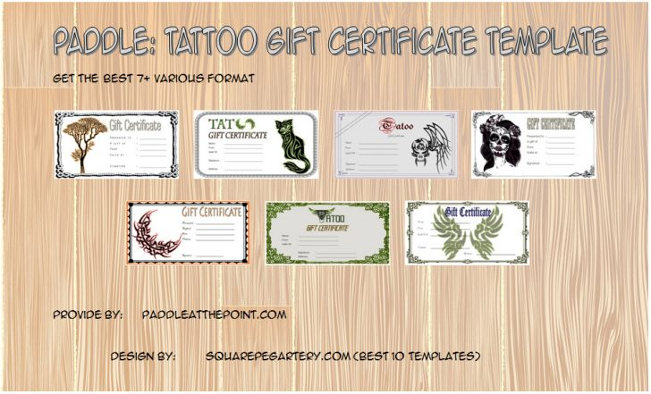Permalink to Tattoo Gift Certificate Template