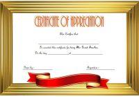 Teacher Appreciation Certificate Template 1