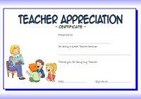 Teacher Appreciation Certificate Template 4