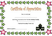 Teacher Appreciation Certificate Template 7