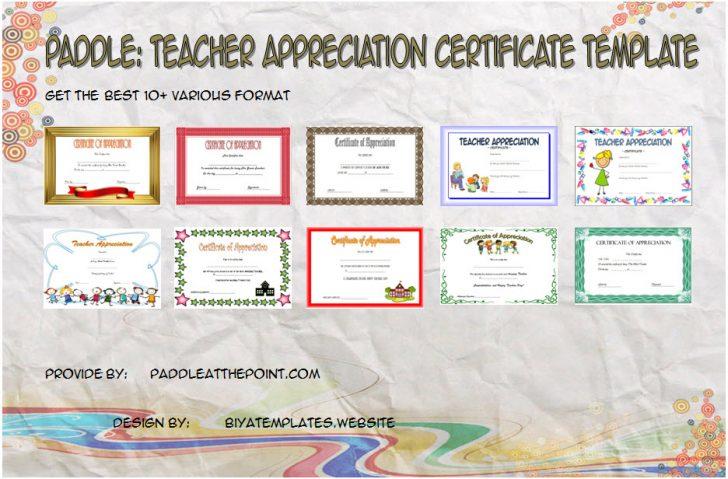 Permalink to The 10+ Best Teacher Appreciation Certificate Templates Ideas FREE