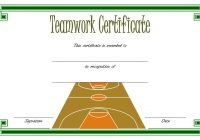Teamwork Certificate Template 4