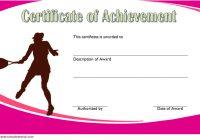 Tennis Achievement Certificate Template 1