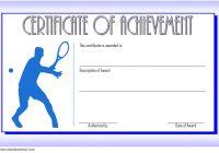 Tennis Achievement Certificate Template 2