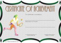Tennis Achievement Certificate Template 3