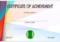 Tennis Achievement Certificate Template 6