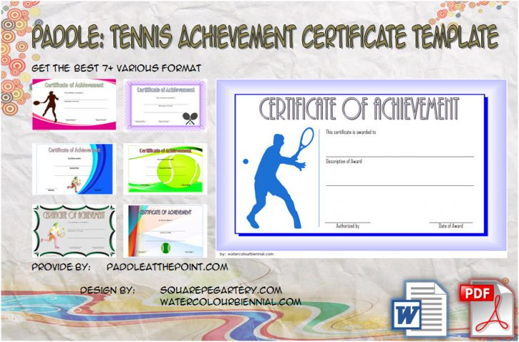 Permalink to Tennis Achievement Certificate Template – 7+ Best Ideas