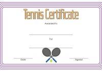 Tennis Certificate Template 1