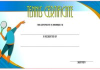 Tennis Certificate Template 3