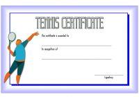 Tennis Certificate Template 4