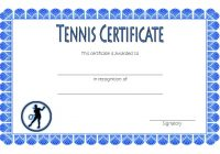 Tennis Certificate Template 5