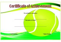 Tennis Certificate Template 7