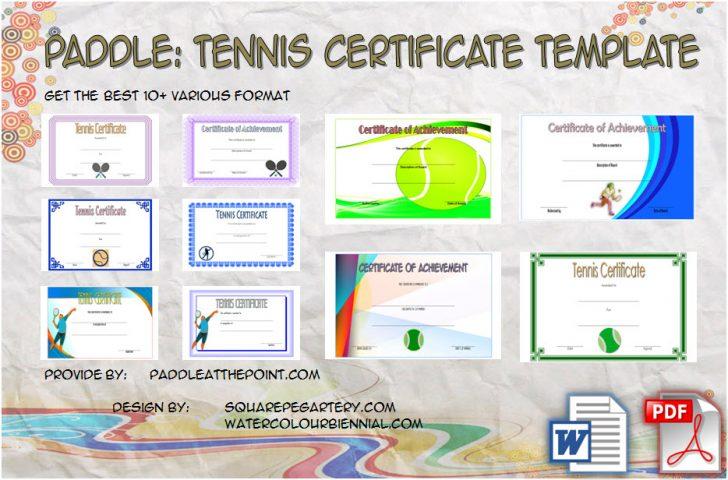 Permalink to Tennis Certificate Template – 10+ Best Design Ideas Free