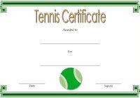 Tennis CertificateTemplate