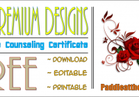 The 7 Premium Certificate of Marriage Counseling Templates FREE by Paddle