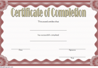 Training Completion Certificate Template 2