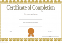 Training Completion Certificate Template 3