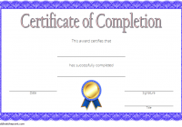 Training Completion Certificate Template 4