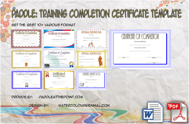 Permalink to Training Completion Certificate Template – 10+ Fresh Ideas